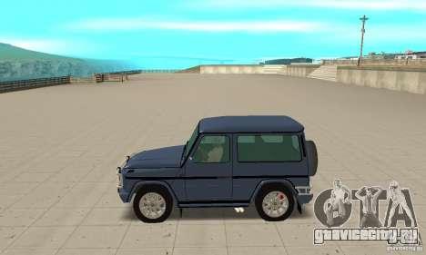 Mercedes-Benz G500 1999 Short [with kangoo v1] для GTA San Andreas вид слева