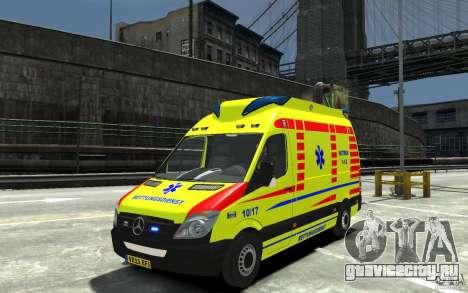 Mercedes-Benz Sprinter 2011 Ambulance для GTA 4