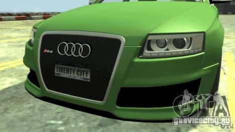 Audi RS6 Avant 2010 Stock для GTA 4 вид справа