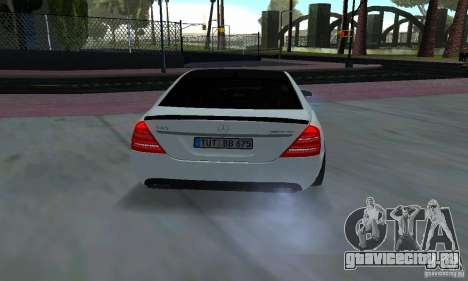 Mercedes-Benz S65 AMG Edition для GTA San Andreas вид сзади