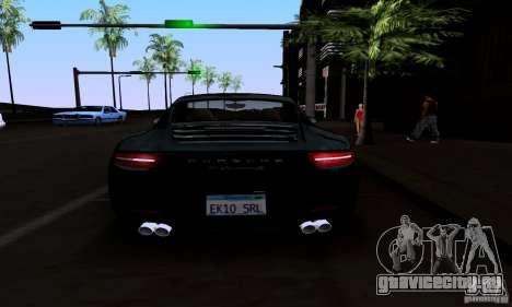 Porsche 911 Carrera S для GTA San Andreas вид снизу