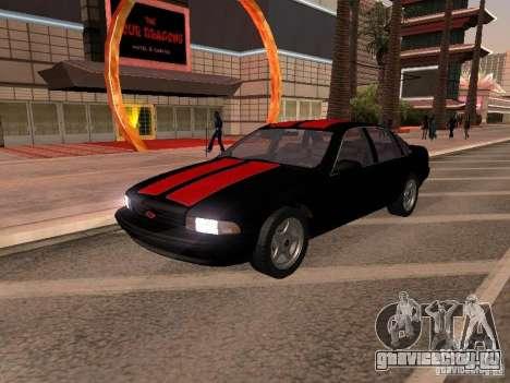 Chevrolet Impala SS 1995 для GTA San Andreas вид изнутри
