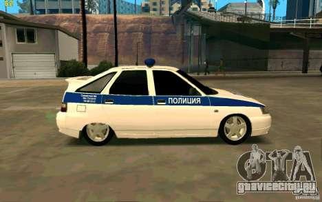 ВАЗ-2112 Полиция для GTA San Andreas вид слева