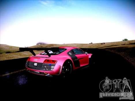 Audi R8 LMS v2.0 для GTA San Andreas вид сзади
