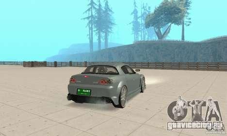 Mazda RX-8 Tuning для GTA San Andreas вид сзади слева