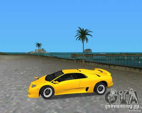 Lamborghini Diablo SV для GTA Vice City вид справа
