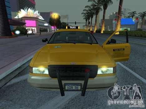 Такси из Gta IV для GTA San Andreas вид сзади слева
