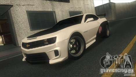 Chevrolet Camaro SS Dr Pepper Edition для GTA San Andreas вид снизу