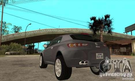 Alfa Romeo Brera из NFSC для GTA San Andreas вид сзади слева