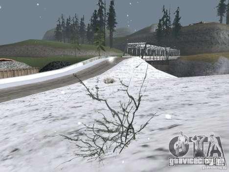 Снег для GTA San Andreas второй скриншот