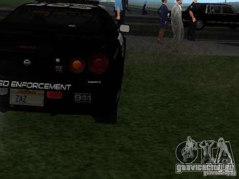 Nissan Skyline R34 Police для GTA San Andreas вид справа