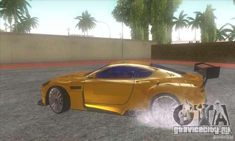 Aston Martin DB9 MW для GTA San Andreas вид справа