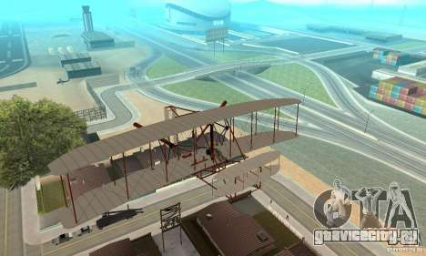 The Wright Flyer для GTA San Andreas вид изнутри