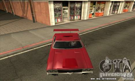 Sabre Drift для GTA San Andreas вид изнутри
