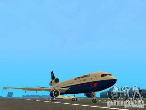 McDonell Douglas DC10 British Airways для GTA San Andreas вид слева