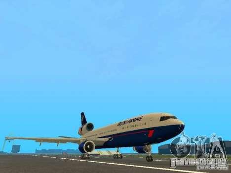 McDonell Douglas DC10 British Airways для GTA San Andreas вид слева