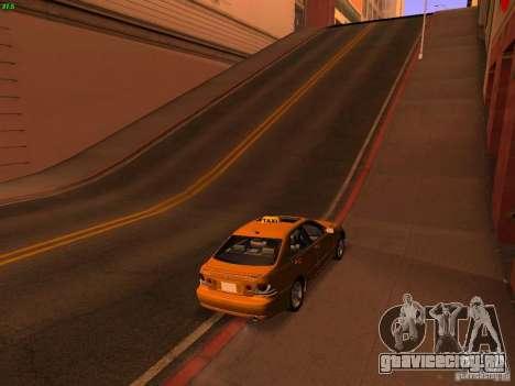 Lexus IS300 Taxi для GTA San Andreas вид слева