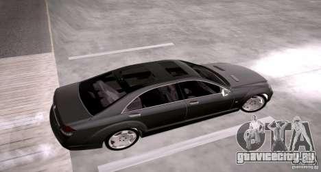 Mercedes-Benz S600 v12 для GTA San Andreas вид справа