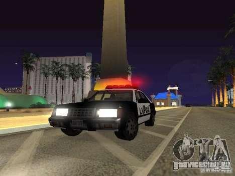 LVPD Police Car для GTA San Andreas вид сзади