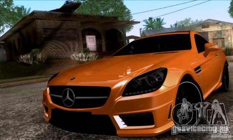 Mercedes Benz SLK55 R172 AMG для GTA San Andreas вид сзади слева