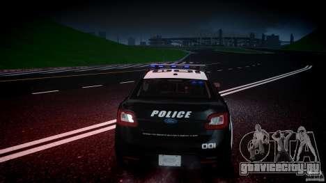 Ford Taurus Police Interceptor 2011 [ELS] для GTA 4 салон