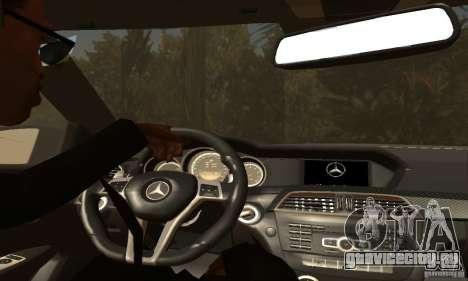 Mercedes-Benz C63 AMG для GTA San Andreas колёса