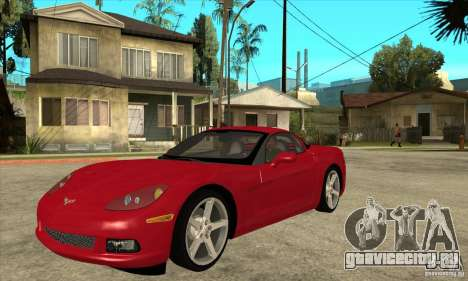 Chevrolet Corvette C6 Z51 - Stock для GTA San Andreas