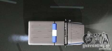 УАЗ-31512 Полиция для GTA San Andreas вид изнутри