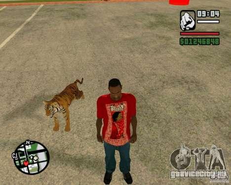 Тигр в GTA San Andreas для GTA San Andreas