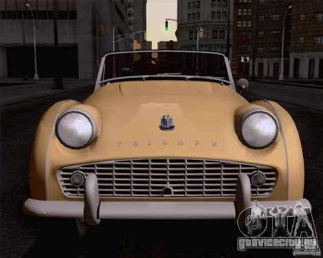 Triumph TR3B 1962 для GTA San Andreas вид сзади слева