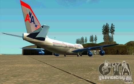 B-747 American Airlines Skin для GTA San Andreas вид справа
