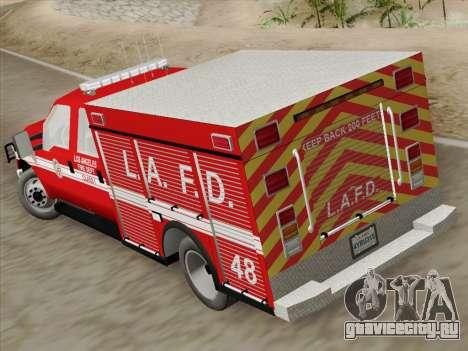 Ford F-350 Super Duty LAFD для GTA San Andreas вид изнутри