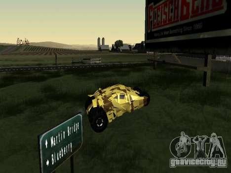 Army Tumbler v2.0 для GTA San Andreas вид сзади слева