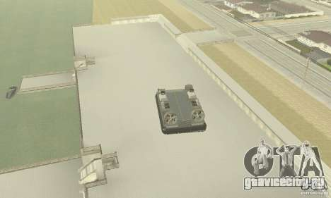 Landing Craft Air Cushion для GTA San Andreas вид сзади