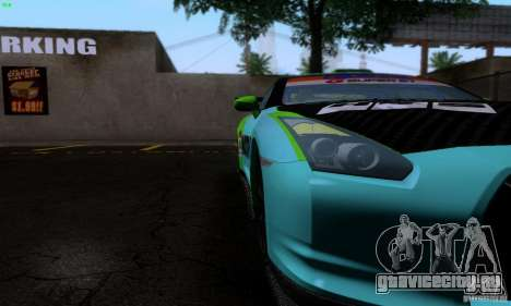 Nissan GTR R35 Tuneable для GTA San Andreas салон