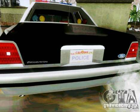 Ford Crown Victoria LTD 1991 SFPD для GTA San Andreas вид справа