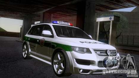 Volkswagen touareg policija для gta san andreas вид справа
