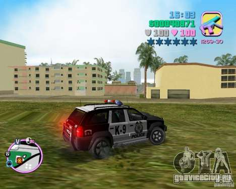 Jeep Grand Cheeroke COPSUV FROM NFS:MW для GTA Vice City вид слева