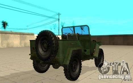 ГАЗ-67 для GTA San Andreas вид сзади слева