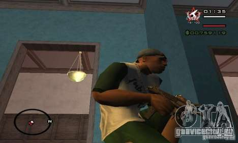 Uzi из COD4 MW для GTA San Andreas второй скриншот