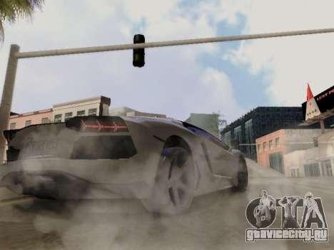 Lamborghini Aventador LP700-4 Vossen для GTA San Andreas вид сбоку
