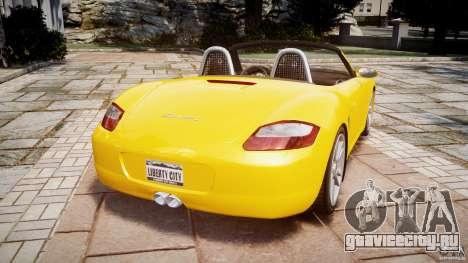 Porsche Boxster S для GTA 4 вид сзади слева
