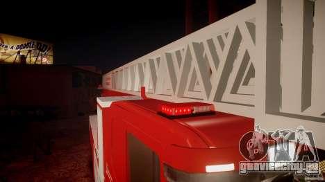 Scania Fire Ladder v1.1 Emerglights red [ELS] для GTA 4