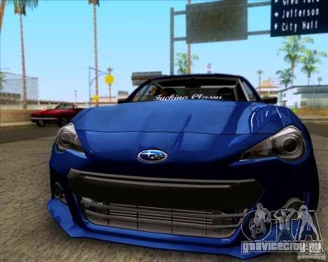 Subaru BRZ Stance для GTA San Andreas вид слева