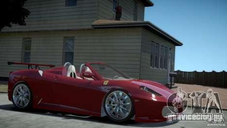 Ferrari F430 Spider для GTA 4 вид сзади слева