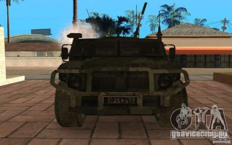 Газ 2975 Тигр для GTA San Andreas вид изнутри