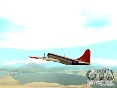 Boeing 377 Stratocruiser для GTA San Andreas вид сзади