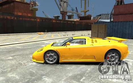 Bugatti EB110 Super Sport для GTA 4 вид слева