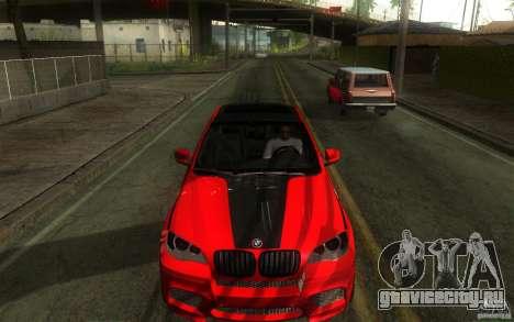 Bmw X6 M Lumma Tuning для GTA San Andreas вид изнутри