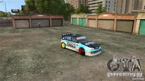 Subaru Impreza WRX STI Rallycross KMC Wheels для GTA 4 вид сверху